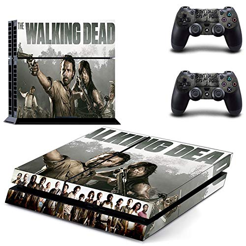 FENGLING The Walking Dead Ps4 Stickers Play Station 4 Skin Sticker Game Decals for Playstation 4 Ps4 Console & Controller Skins Vinyl 1