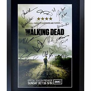 HWC Trading The Walking Dead A3 Encadré Signé Image Autographe Imprimé Impression Photo Cadeau D'Affichage pour TV Show Ventilateurs 6