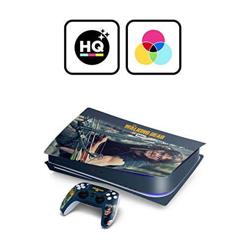 Head Case Designs Officiel AMC The Walking Dead Daryl Dixon Graphiques Matte Vinyle Autocollant Peau Autocollant Couverture Compatible avec Playstation Console De Jeu 2