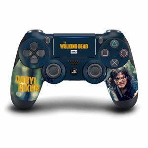 Head Case Designs Officiel AMC The Walking Dead Daryl Dixon Graphiques Matte Vinyle Autocollant Peau Autocollant Couverture Compatible avec Playstation Console De Jeu 6