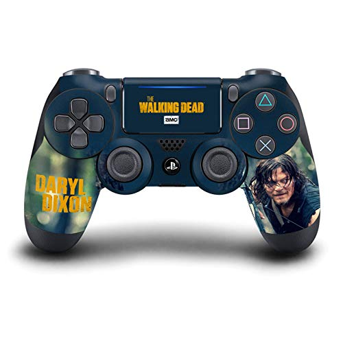 Head Case Designs Officiel AMC The Walking Dead Daryl Dixon Graphiques Matte Vinyle Autocollant Peau Autocollant Couverture Compatible avec Playstation Console De Jeu 1