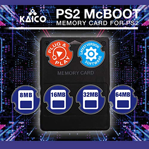 Kaico Free Mcboot 64MB PS2 Memory Card Running FMCB PS2 Mcboot 1.966 pour Sony Playstation 2 - FMCB Free Mcboot Your PS2 - Plug and Play - Playstation 2 CFW McBoot 1.966 3