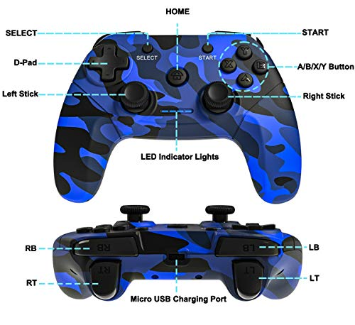 Maegoo Manette PC sans Fil, PS3 Manette 2.4g PC Manette Gamepad Joystick avec Double Vibration Rechargeable pour Playstation 3 et PC Windows 10 XP 7 8 Android Smart TV/TV Box 2