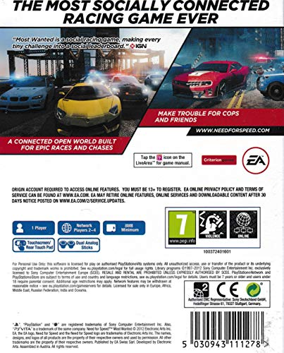 NEED FOR SPEED - MOST WANTED [PS VITA GAME] 2