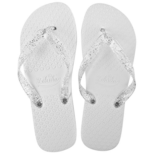 ZOHULA Tongs de Mariage Blanches - Achat en Gros - 50 Paires 2